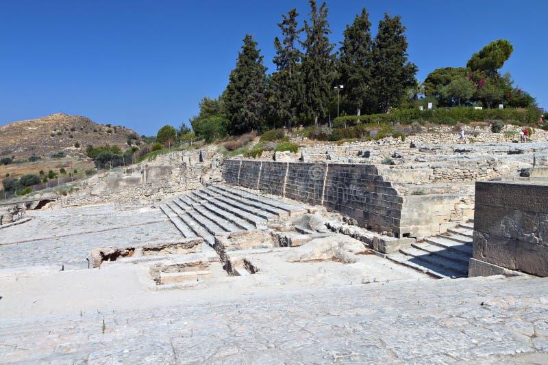 Стародедовское Phaestos на острове Крита, Греции стоковые фото