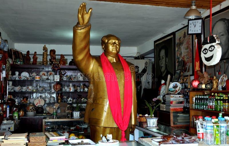 стародедовское zi городка статуи jie mao фарфора руководителя стоковое фото
