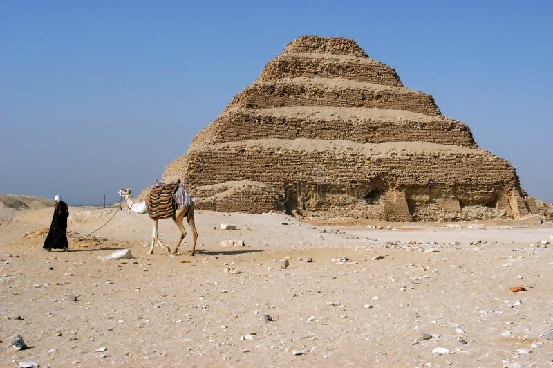стародедовское zoser шага пирамидки djoser стоковая фотография rf