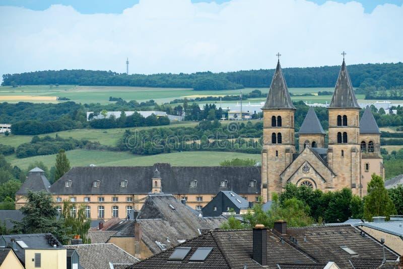 Старое бенедиктинское аббатство Echternach стоковое фото rf