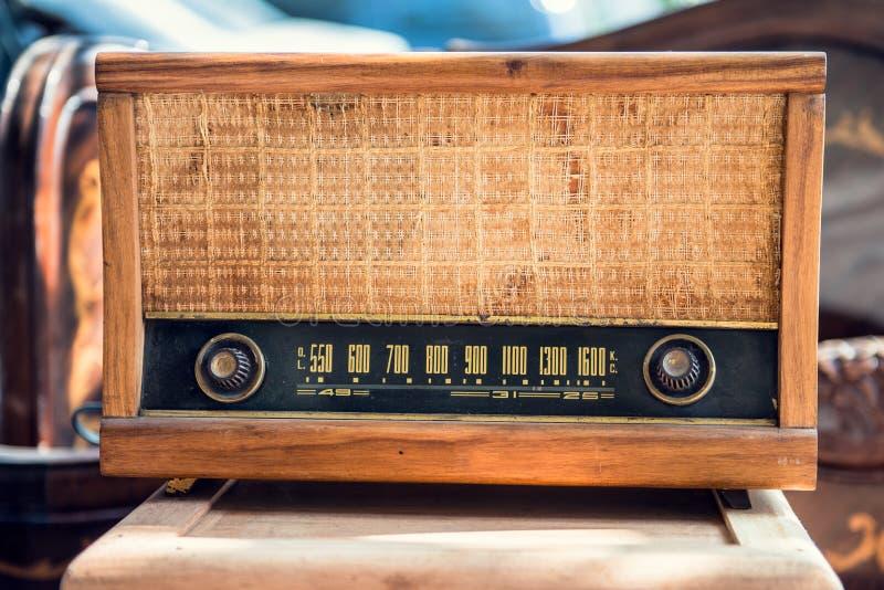 Старое винтажное радио Стоковая Фотография RF