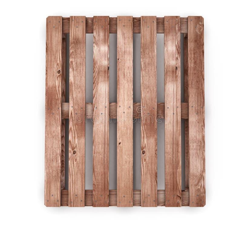 Старое деревянное вид спереди паллета доставки иллюстрация штока