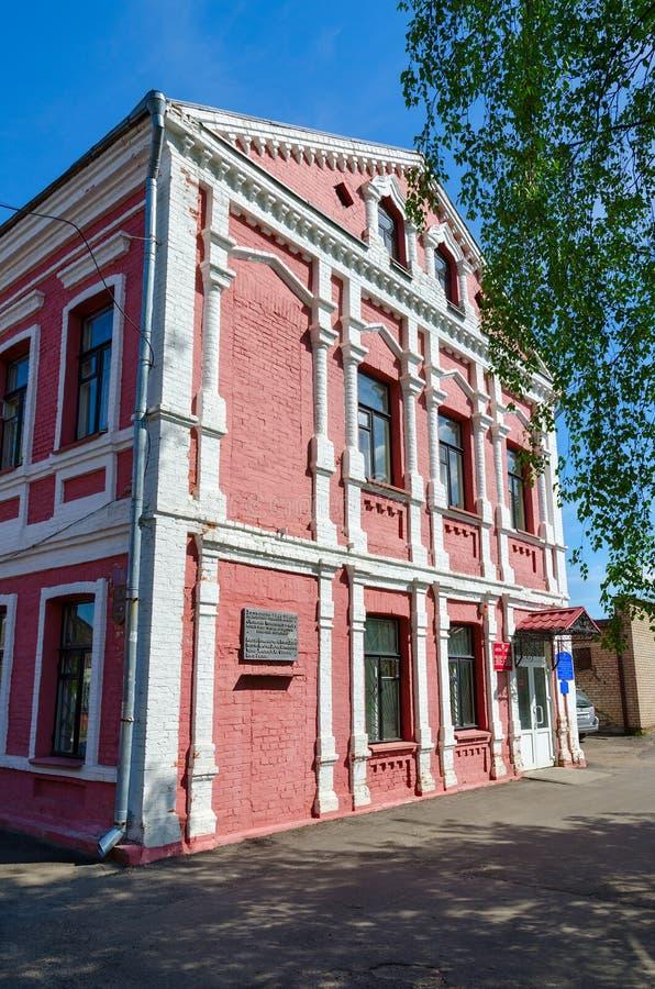 Старое здание в историческом центре города, Полоцк, Беларуси стоковая фотография