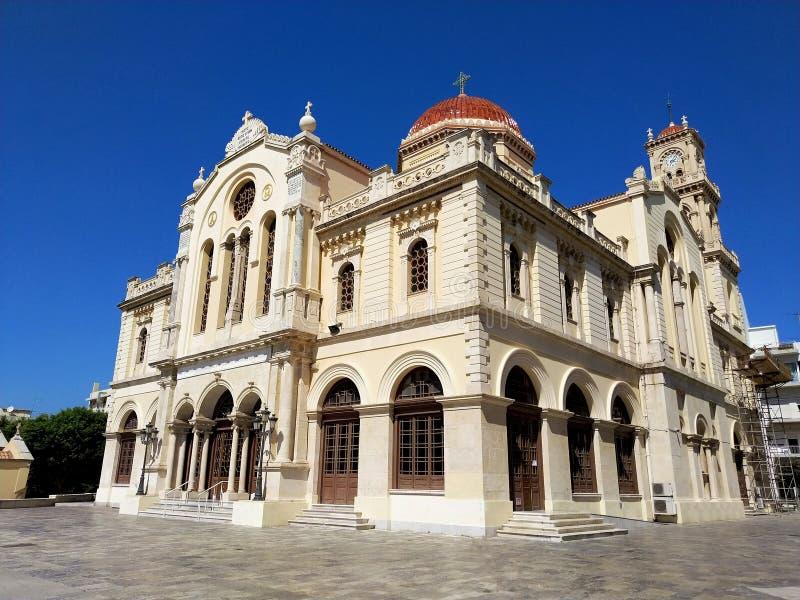Старое здание в историческом центре ираклиона, Крита, Греции стоковое фото