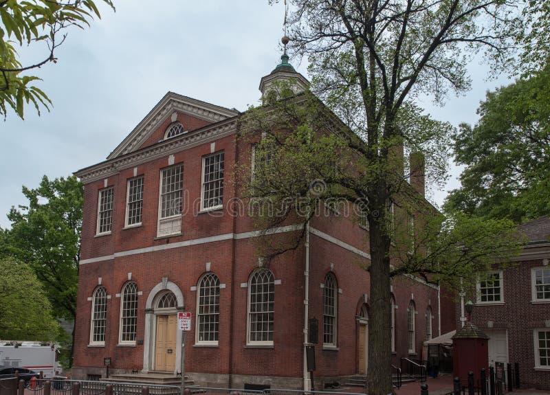 Старое здание муниципалитет Филадельфия Пенсильвания стоковая фотография