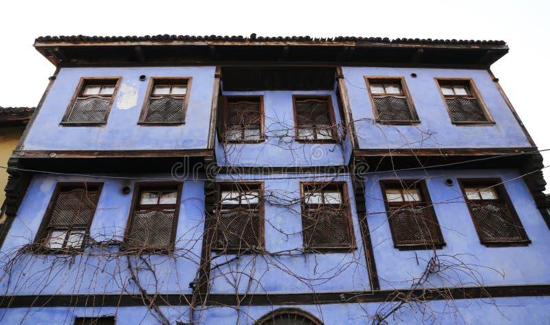 Старое здание в деревне Cumalikizik, Бурсе, Турции стоковое изображение rf