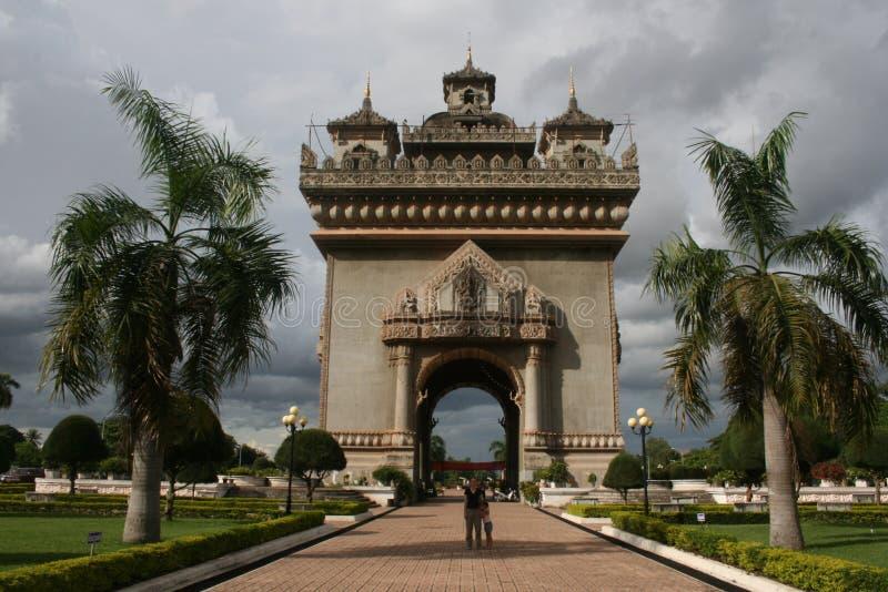 Старое здание в Лаосе стоковые фото