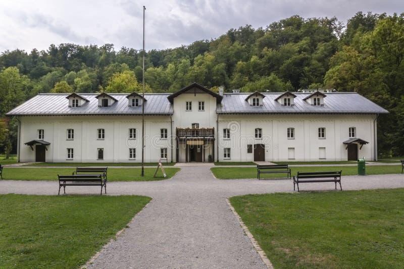 Старое здание в ojców, Польше стоковые фотографии rf