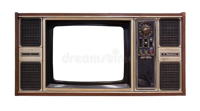 Старое изолированное телевидение стоковое изображение rf