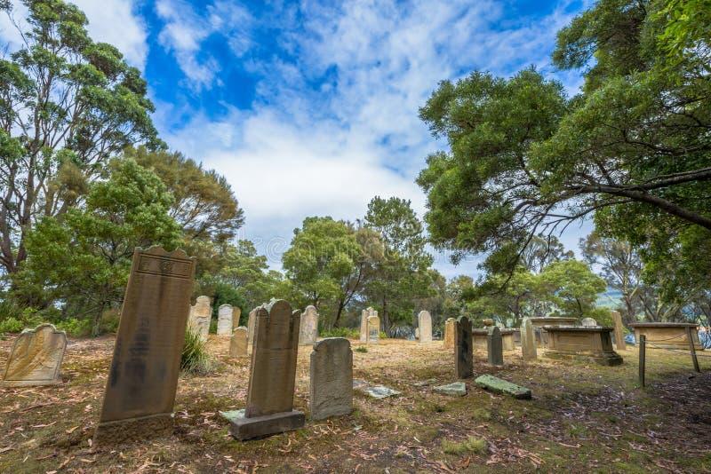 Старое историческое кладбище стоковые изображения