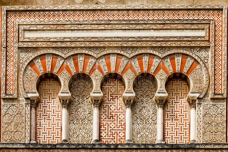 Старое исламское украшение здания стоковая фотография rf