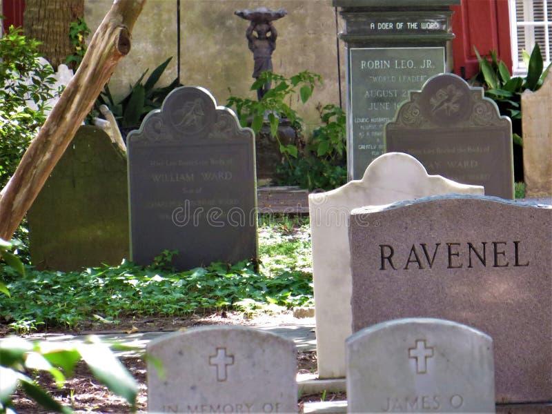 Старое кладбище, Чарлстон, Южная Каролина стоковое фото rf