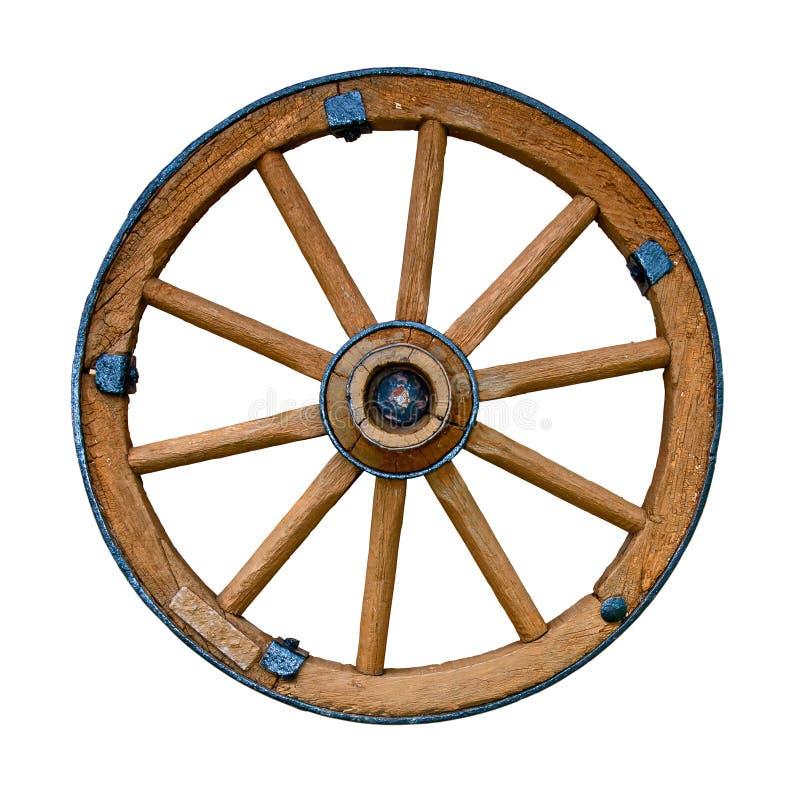старое колесо деревянное стоковое фото rf