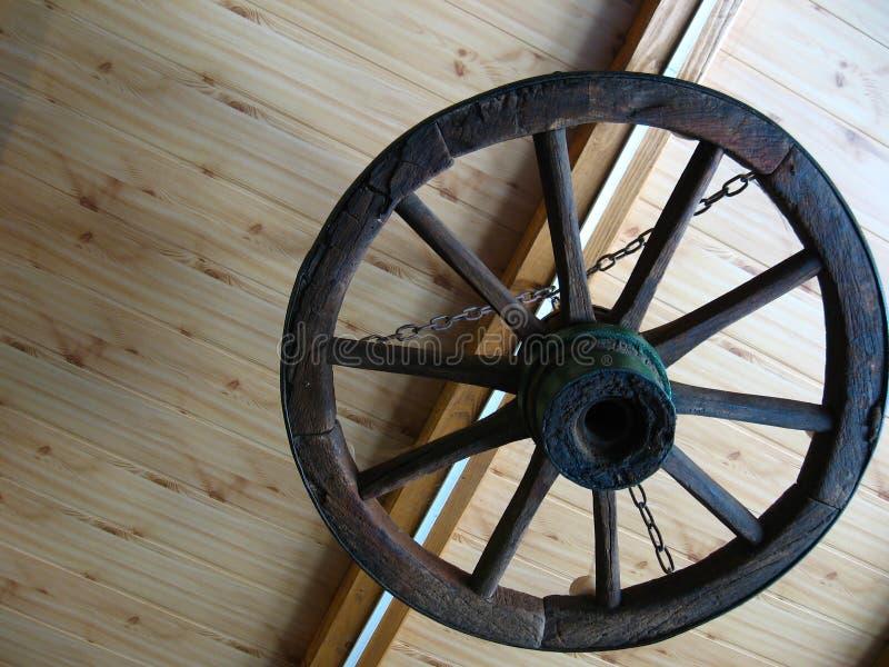 Старое колесо тележек стоковые фотографии rf