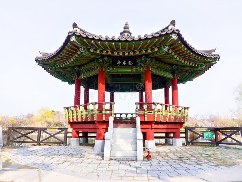 Старое корейское здание в Южной Корее стоковые фотографии rf
