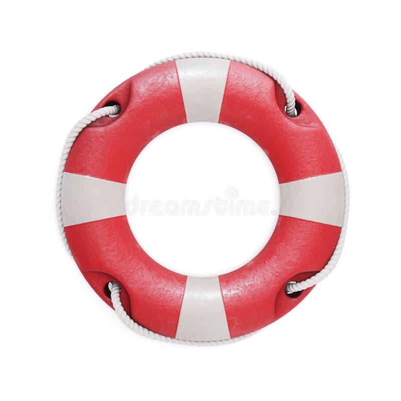 Старое красное lifebuoy изолированное на белой предпосылке иллюстрация 3d бесплатная иллюстрация