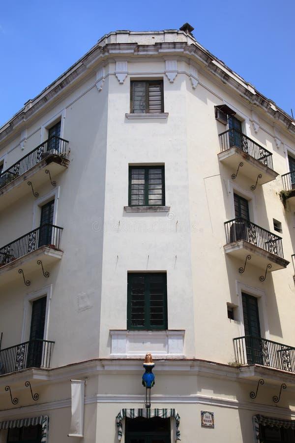 Старое кубинское здание стоковые фото