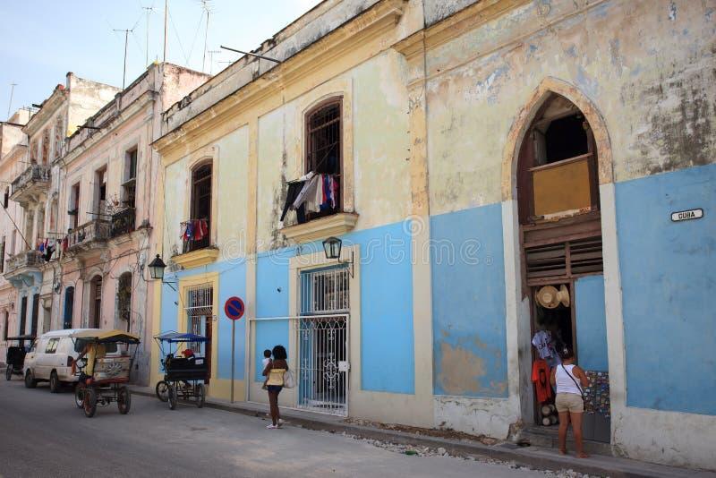 Старое кубинское здание стоковая фотография rf