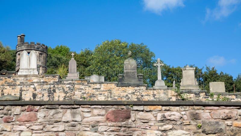 Старое кладбище в Эдинбурге, Шотландии стоковые фото