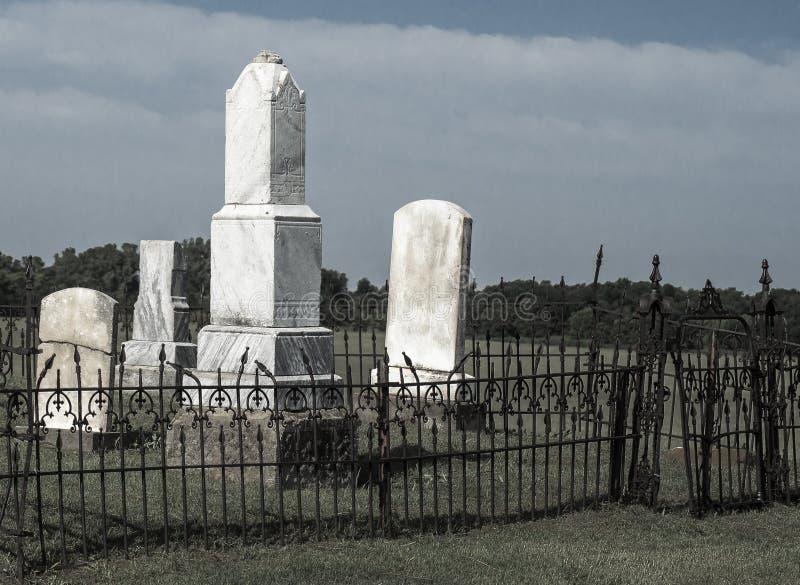 Старое кладбище ранчо стоковые изображения