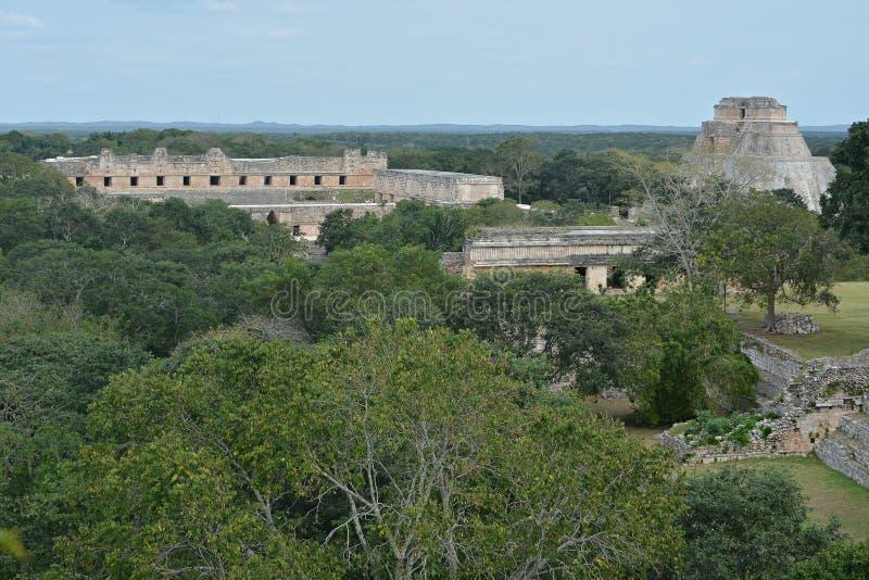 Старое майяское место Uxmal, Мексика стоковые изображения