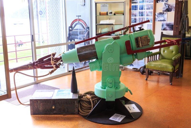 Старое оружие остроги, используемое для китоловства стоковая фотография