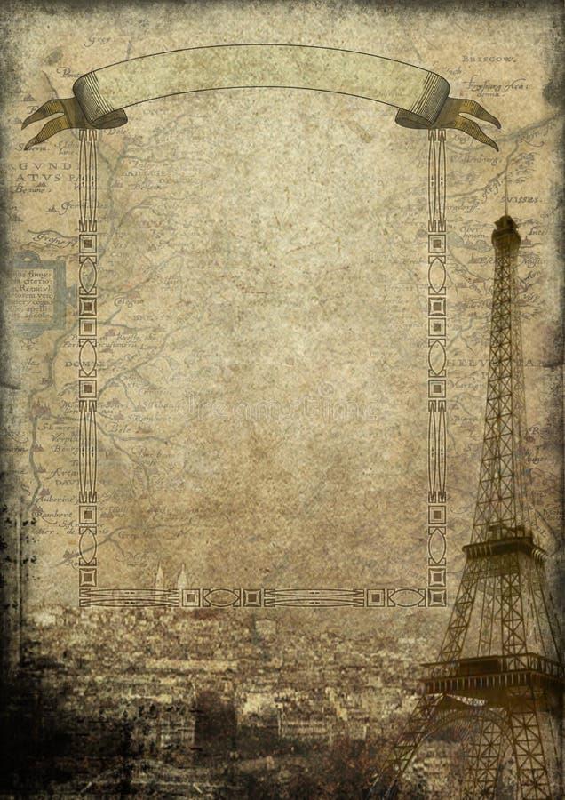 Старое Париж иллюстрация вектора