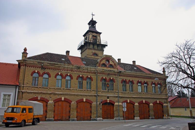 Старое пожарное депо Slavonski Brod стоковое фото
