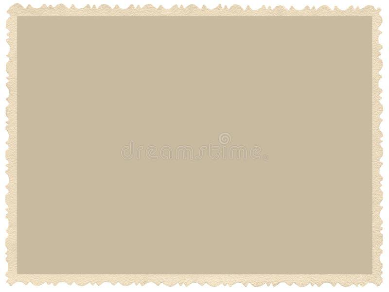Старое постаретое фото sepia края grunge, пустая пустая горизонтальная предпосылка, изолированная желтая бежевая винтажная рамка  стоковые фото