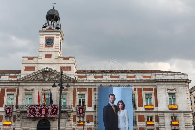 Старое почтовое отделение, Мадрид стоковое фото