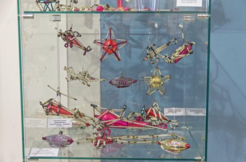 Старое советское рождество забавляется - самолеты и дирижабли стоковое изображение