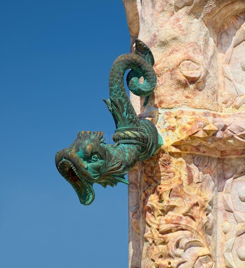 Старое сопло фонтана стоковые изображения