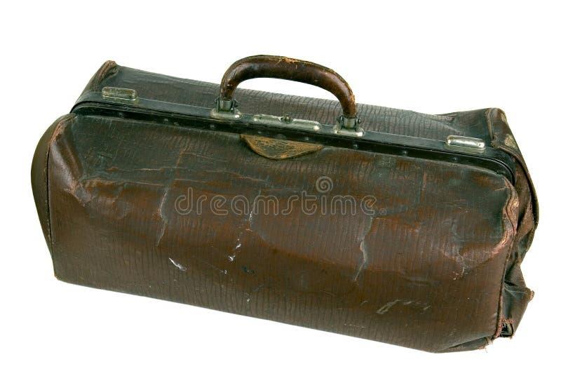 старое сорванное портфолио стоковая фотография rf