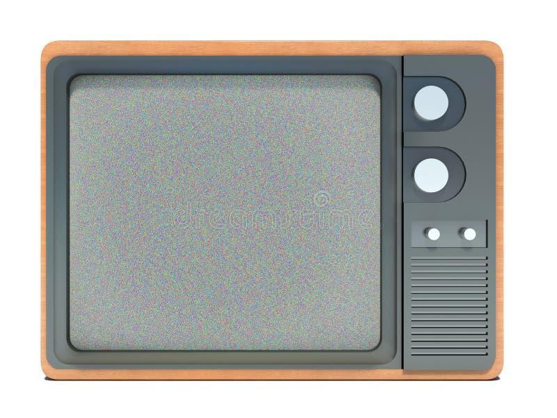 Старое ТВ и шум на экране бесплатная иллюстрация