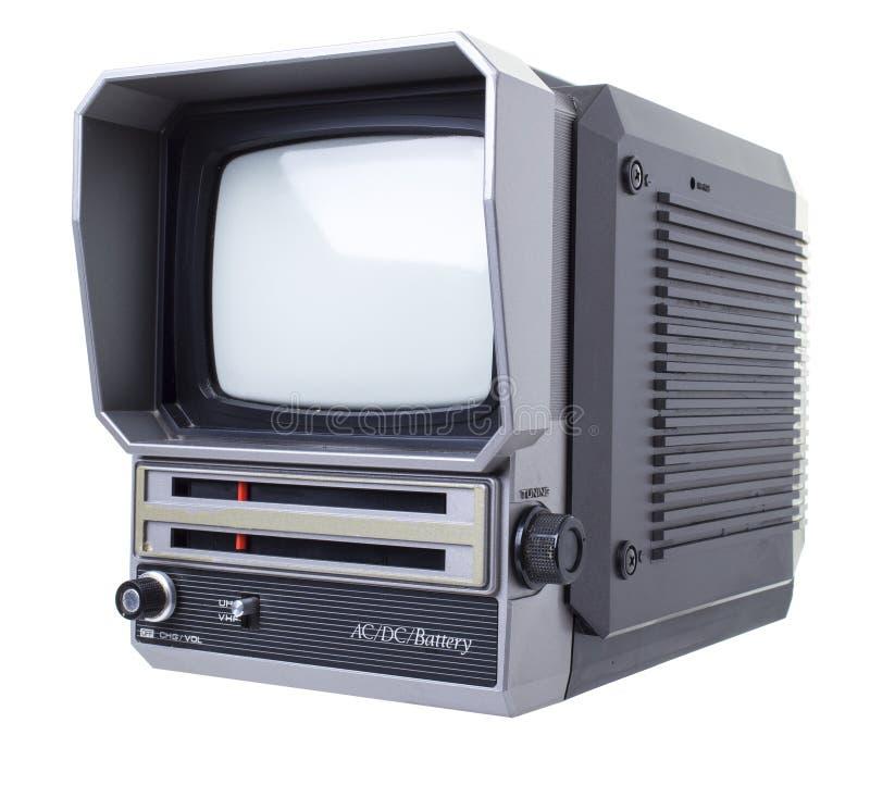 Старое ТВ портативной машинки стоковые изображения rf