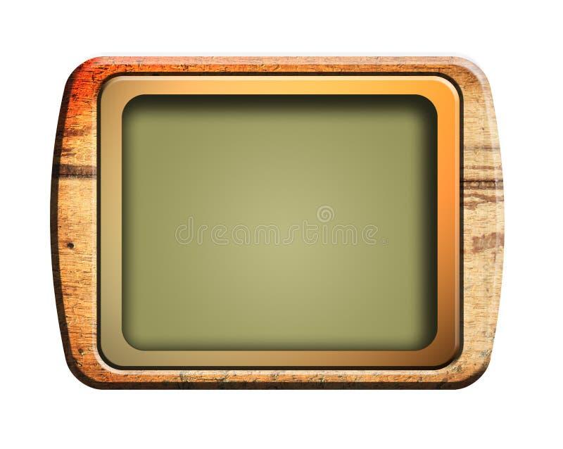 старое телевидение иллюстрация вектора