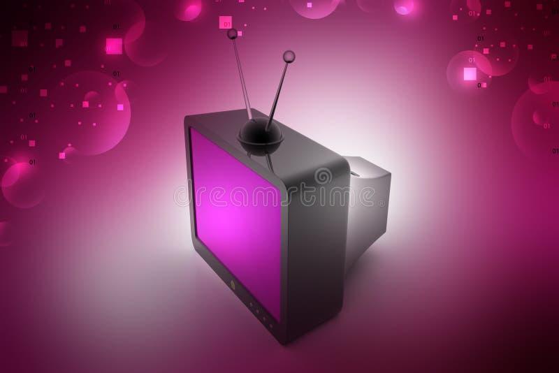 Старое телевидение моды иллюстрация вектора