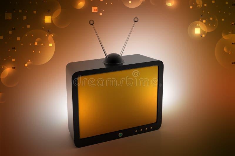 Старое телевидение моды бесплатная иллюстрация