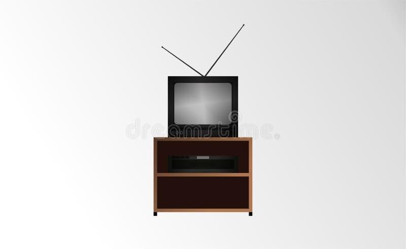 старое телевидение иллюстрация штока
