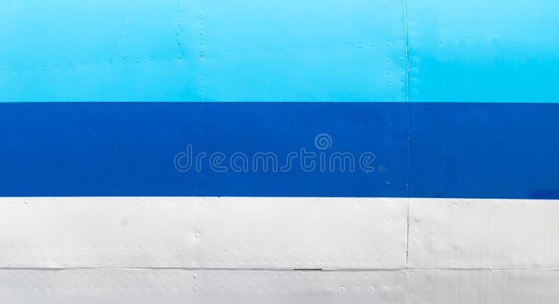 Старое тело самолета - синь стоковая фотография rf