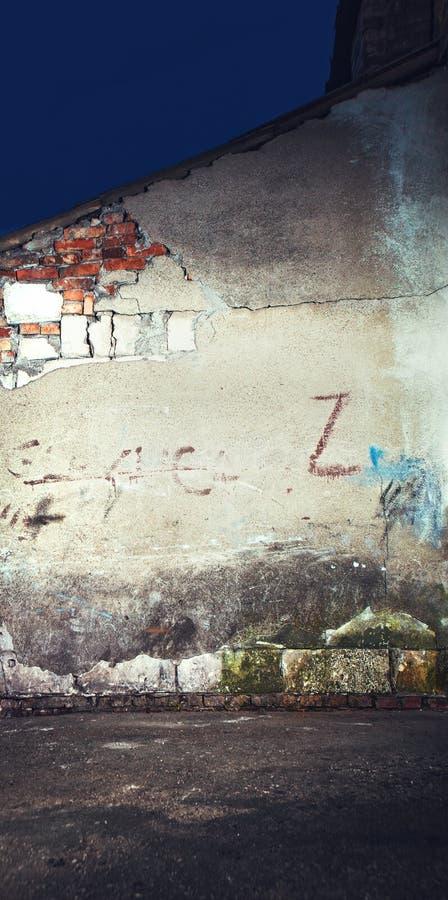Старое треснутое или grungy место на предпосылке стоковое изображение rf