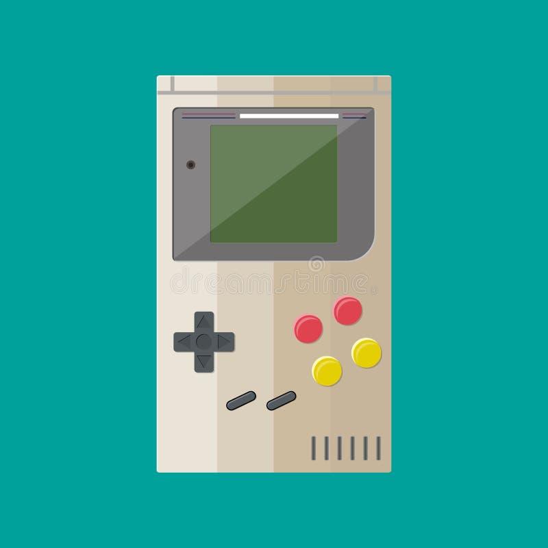 Старое устройство Handheld консоль игры иллюстрация штока