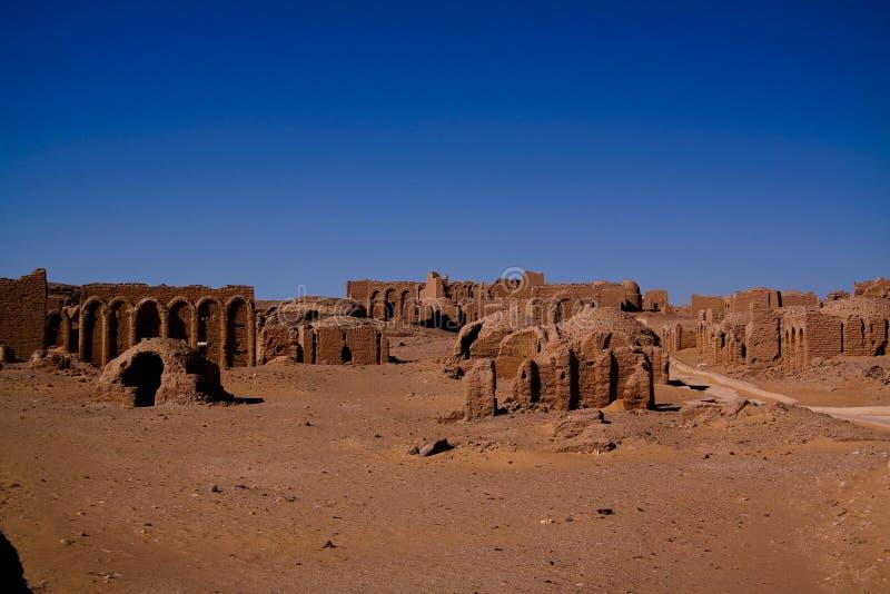 Старое христианское кладбище El Bagawat, оазис Kharga, Египет стоковые фото