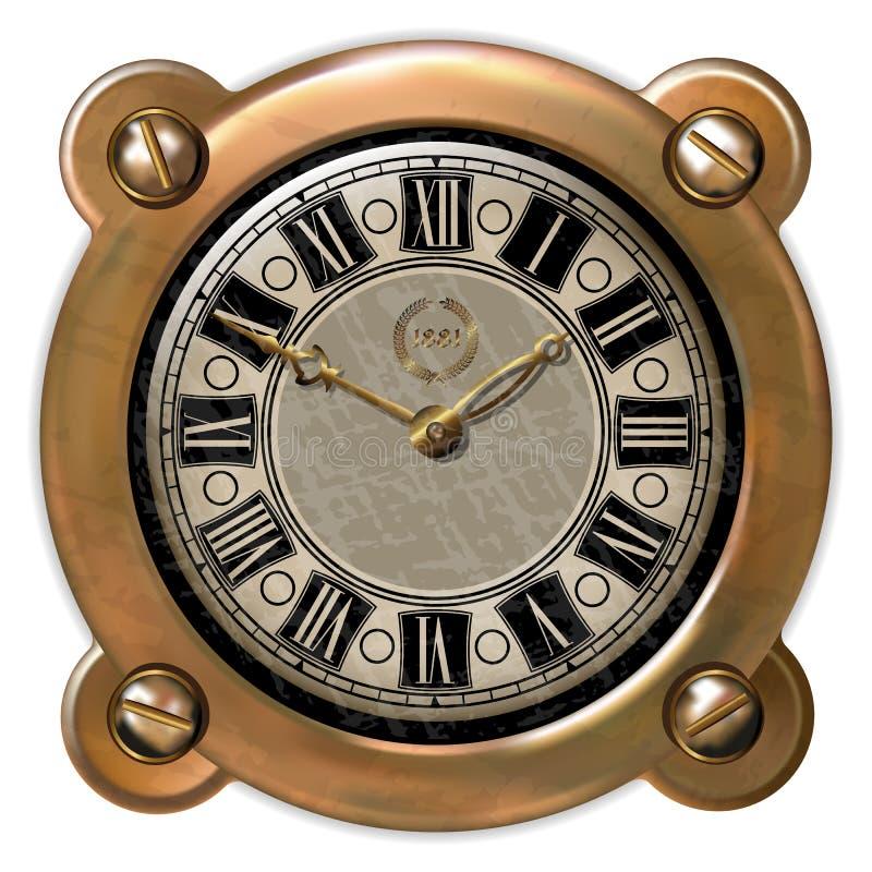 Старое ector часов иллюстрация штока