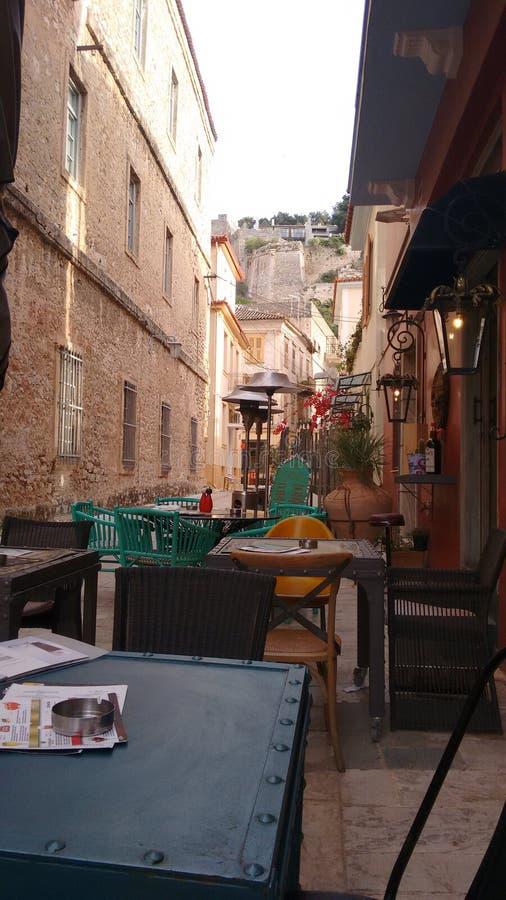 Старое nauplio городка стоковые изображения rf
