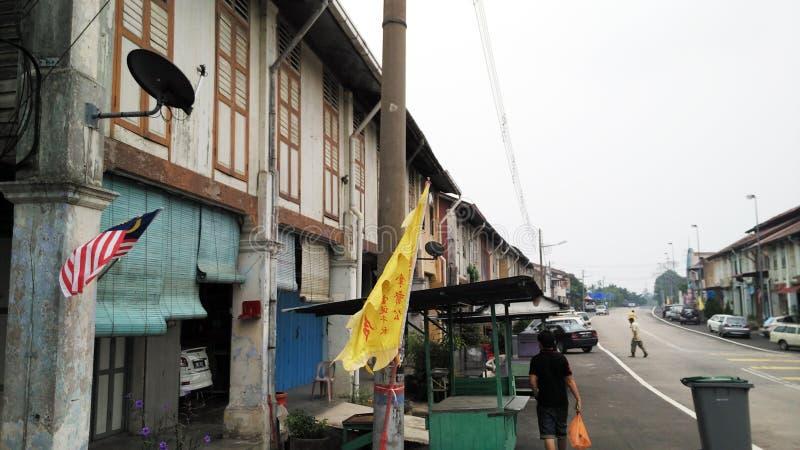 старое shophouse традиционное стоковое изображение rf