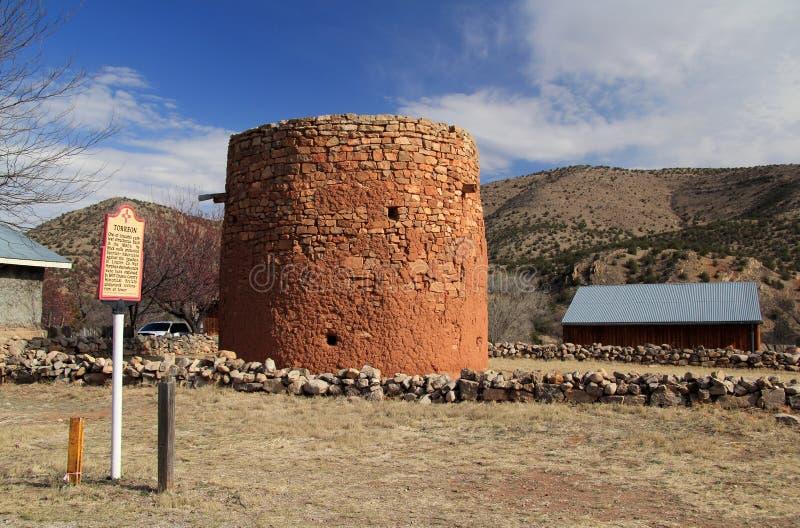 Старое Torreon в Линкольне, Неш-Мексико стоковые изображения rf