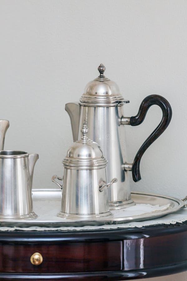 Староитальянский традиционный стиль мока кофейня, Винтаж Мока стоковые фото
