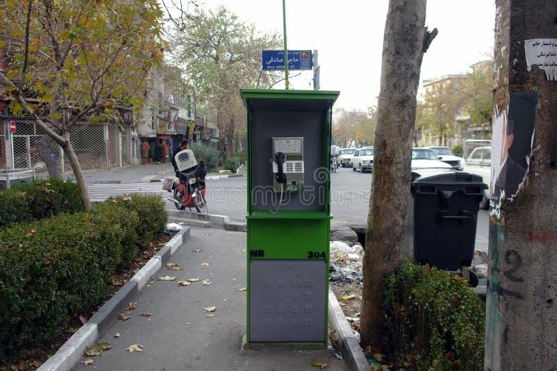 Старомодный общественный телефон стоковое изображение rf