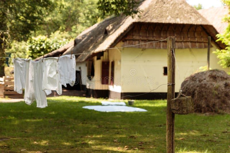 Старомодная прачечная Bokrijk, Бельгия стоковые фото